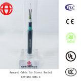 Напольный бронированный кабель Gyfta53 48b1.3 для сразу захоронения
