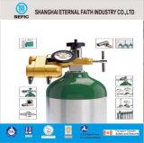 Cilindro de gás de alumínio médico de alta pressão portátil pequeno do oxigênio