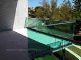 Подкрашиванная балюстрада Tempered стекла Frameless 12mm для террасы