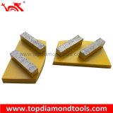 구체적인 지면을 갈기를 위한 2개의 다이아몬드 세그먼트를 가진 금속 다이아몬드