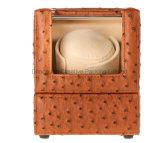 Bobinier de luxe de montre de cuir d'unité centrale d'autruche pour la montre de Mens