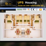 Пол модульной дома низкой стоимости одиночный/ровная семья живя с фотоим 3D