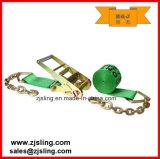 """Cinta da catraca En12195-2 com extensões Chain 4 de """" verde X 50 '"""