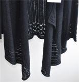 Casaco de lã modelado Opean longo da malhas da luva das mulheres