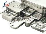 La GN pesante fa una panoramica di, contenitori di Gastronorm, 304 l'acciaio inossidabile, molti gradua, coperchio/coperchio