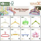 Gancho de roupa plástico popular colorido de Eisho