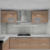 現代金属フレームのホーム食器棚