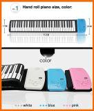 Рояль дешевой игры детей электронный складывая с ключами мягкой клавиатуры 88
