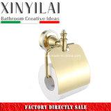 Accesorios de lujo del cuarto de baño del cromo del oro fijados con 6PCS