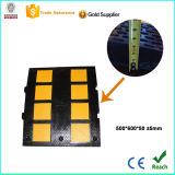 Chepa de goma negra y amarilla de la velocidad con CE