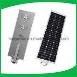 PIRの動きセンサーのセリウムのRoHS ISO IP68の1つのLEDの統合された太陽街灯の5W-120Wはすべて承認した