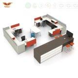 Poste de travail moderne de compartiment de bureau de croix de meubles de bureau