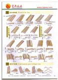Peau noire de porte moulée par HDF de placage de noix