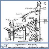 Accesorios de valla de alambre de cadena de acero duradero para la instalación
