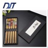 Коробка печатание изготовленный на заказ логоса японская 5 пар деревянных палочка