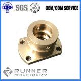 Parte fazendo à máquina /Aluminum que forja a forjadura de /Brass/peça fazendo à máquina da soldadura