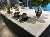 Disegni di vetro moderni popolari dell'armadio da cucina del MDF dei nuovi prodotti alti