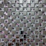 Mosaico Goldleaf artesanais, Padrão de Flores Mosaico de vidro, metal Mosaic