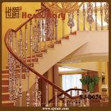 Corrimão de alumínio da cor dourada luxuosa para a escadaria para interno (SJ-B024)