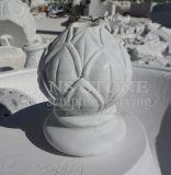 Luz Rosetta De Mármore Esculpida De Dois Tiered Fonte De Água No Jardim Mf063