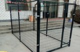 Jaula de la corrida del perro, jaula del animal doméstico