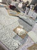 Thassos 백색 혼합 Carrara 백색 꽃 디자인 대리석 패턴 모자이크