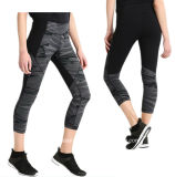 Тренажерный зал на 3/4 длины брюки для занятий йогой тренировки под плотную посадку брюки для женщин