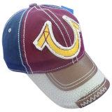 Нестандартная конструкция помыла бейсбольную кепку с кожаный Applique Gjwd1715