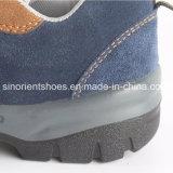 Zapatos de seguridad del cuero genuino de la PU Outsole con la punta de acero y la placa de acero
