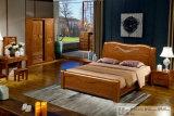 Chinesische Eichen-Holz-Schlafzimmer-Möbel, hölzernes Hotel-Bett (803)