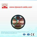 4 cables aislados PVC de la energía eléctrica de la base XLPE