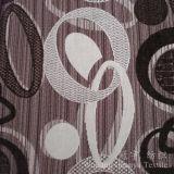 Modelo del círculo de tela de poliéster teñida hilado de chenilla