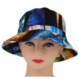 Cappello floreale della benna del legame del cotone variopinto su ordinazione della tintura