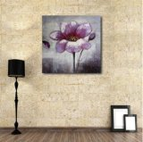 Картина маслом пурпурового цветка