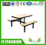 Mesa de jantar e cadeira de jantar de bancada de madeira (DT-09)