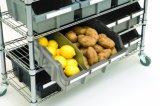 4 níveis Restaurante Cozinha Fio Adjstable Rack Estantes de armazenamento