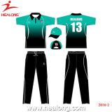 Mayorista de ropa deportiva Healong Cricket personalizados camisetas uniformes de Teamwear