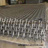 Rete metallica di tessitura quadrata unita galvanizzata