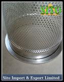 Filtre perforé de treillis métallique de l'acier inoxydable 304