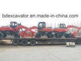 Da máquina escavadora pequena nova da roda de Baoding máquina escavadora hidráulica
