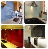 RoHS conforme à l'impression en céramique de couleurs de verre/dosseret de cuisine Plan de travail Le verre trempé