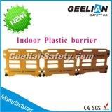 Cerca de segurança plástica portátil, barreira amarela do plástico da estrada da estrada da cor