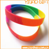 Изготовленный на заказ смешанные Wristband силикона цвета и кремний Braceletfor подарка промотирования (YB-SW-80)