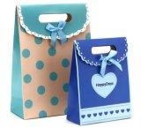 Con dibujos de regalo del paquete bolsa con cinta adhesiva mágica Prensa-Button