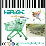 Asian Style Supermarket Metal Wire Shopping Trolley
