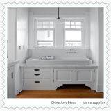 Countertop Китая белый мраморный для кухни и ванной комнаты