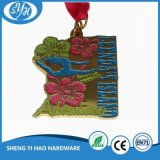 Подгонянный цветастый мягкий медальон воиска сувенира эмали