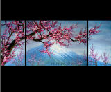 Modernes Segeltuch-Wand-Kunst-Blumen-Ölgemälde (FL3-014)