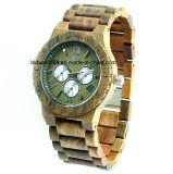 선물을%s 목제 시계 다기능 크로노그래프 나무로 되는 시계