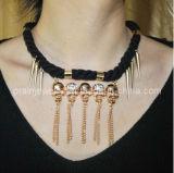 La Primavera, Verano el estilo de moda collar chapado en oro de aleación de zinc con material acrílico